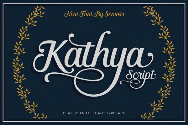Kathya Script is a contemporary calligraphic typeface