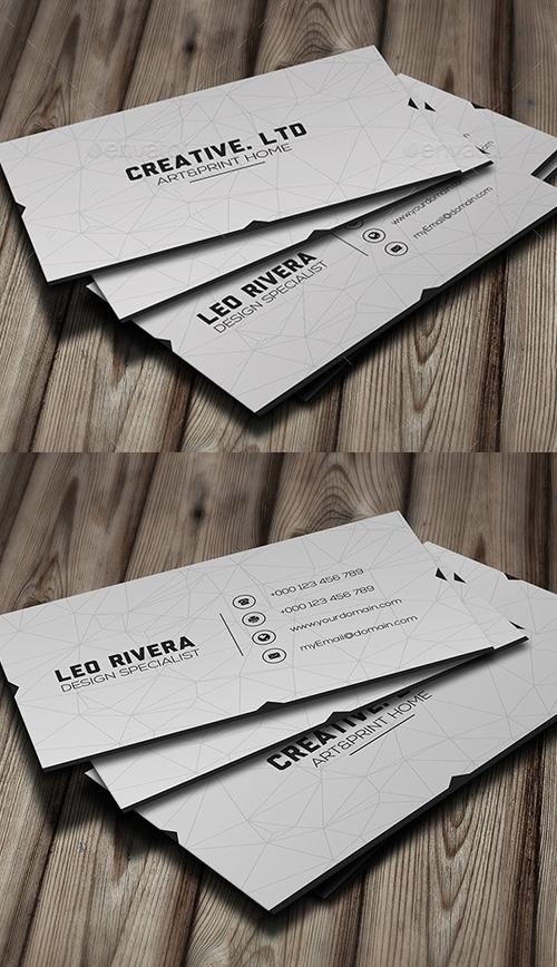 White Minimal Business Card