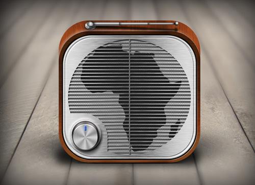 iOS Radio App Icon for Africa UK Radio