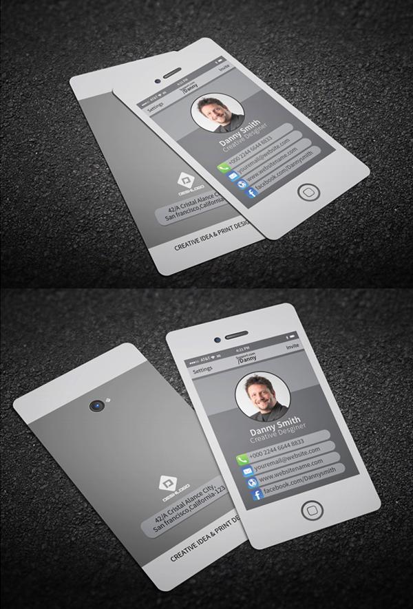 Stylish Smartphone Business Card