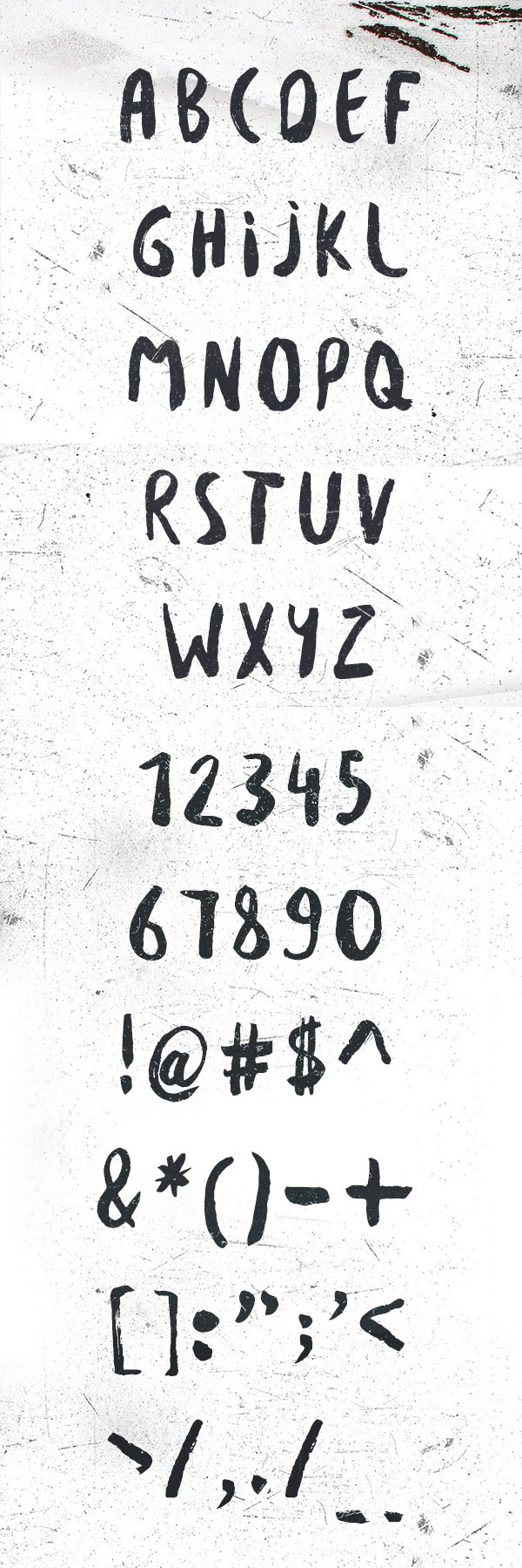 Besom Font Letters
