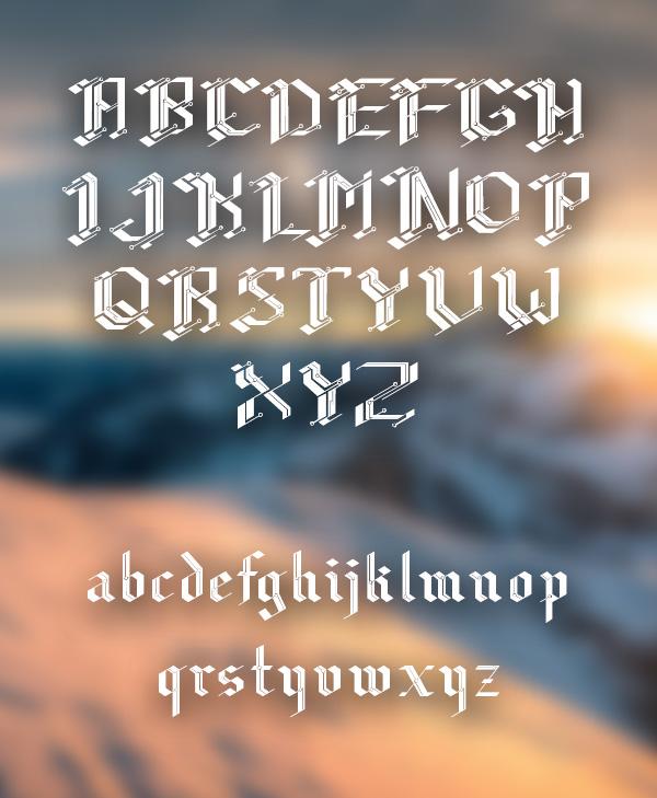 CiberGotica Font Letters