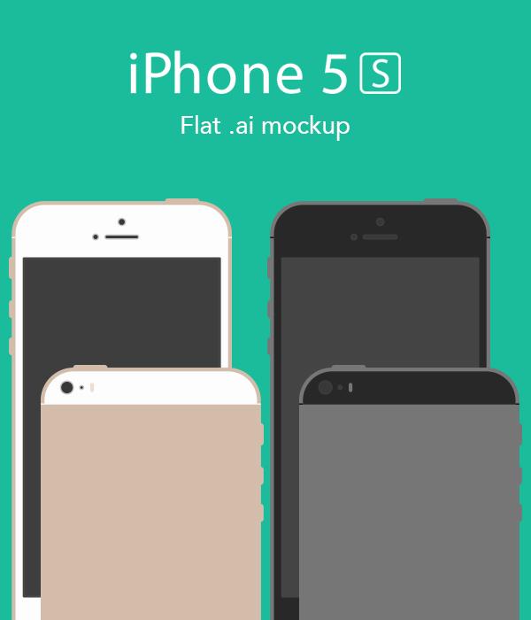 Flat iPhone mockup
