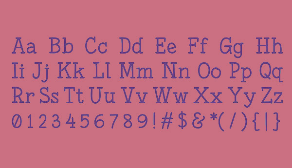Fonesia Font Letters