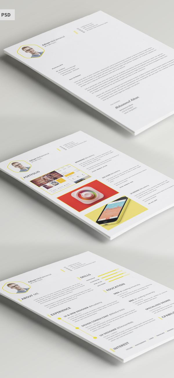 Free CV/Resume Template PSD