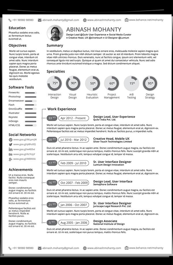 Free Minimal Resume/CV Template