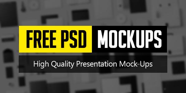 New Free Photoshop PSD Mockups for Designers (26 MockUps)
