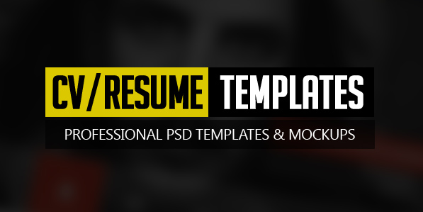18 Free Modern CV / Resume Templates & PSD Mockups
