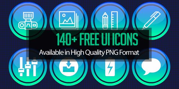 140 Free UI Icons for Dashboard UI Design