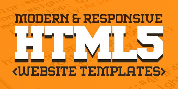 New Responsive HTML5 Website Templates