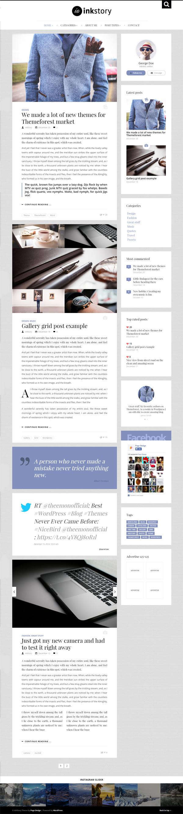 InkStory - Personal, News, Blog WordPress Theme