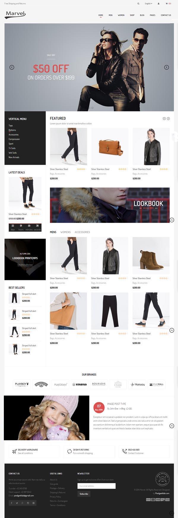 Marvel - Responsive eCommerce HTML5 Template