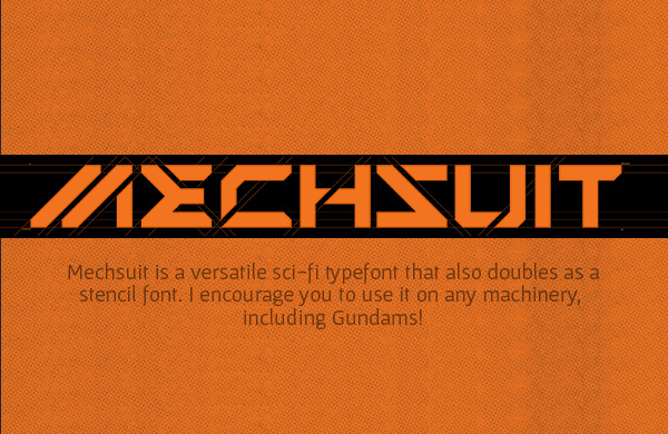 Mechsuit Free Font
