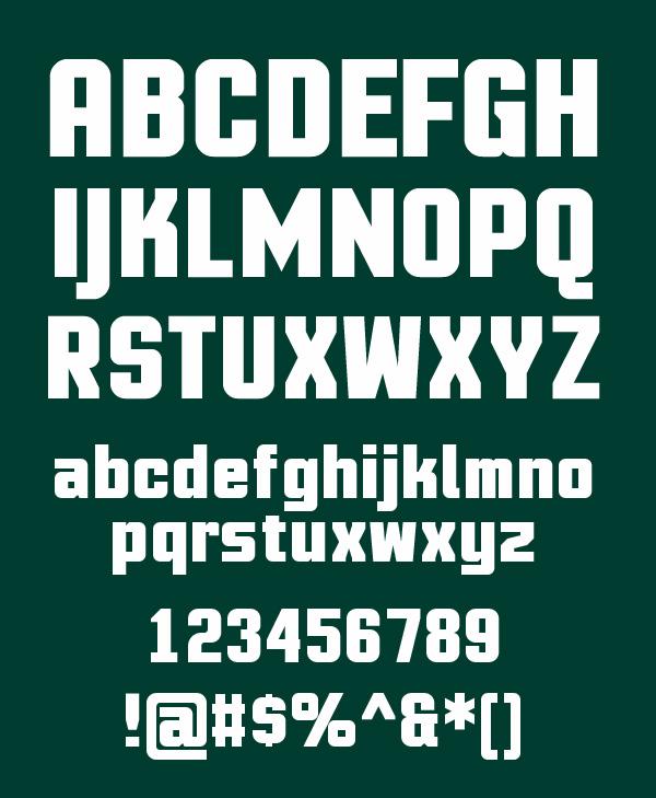 Motion Control Font Letters