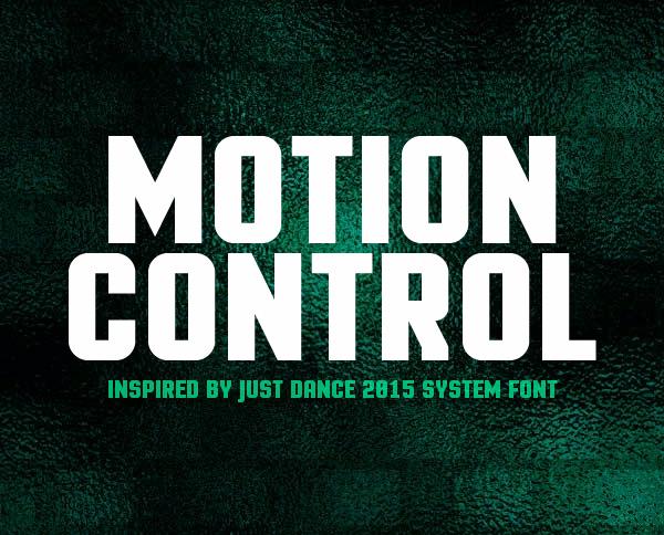 Motion Control Free Font