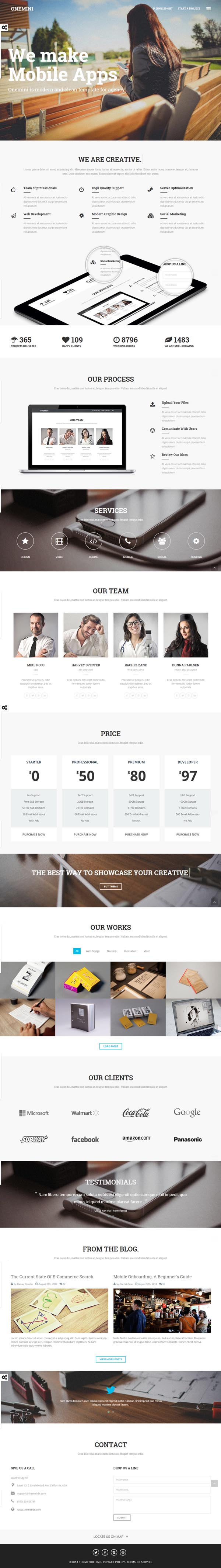 Onemini - Onepage HTML5 Template