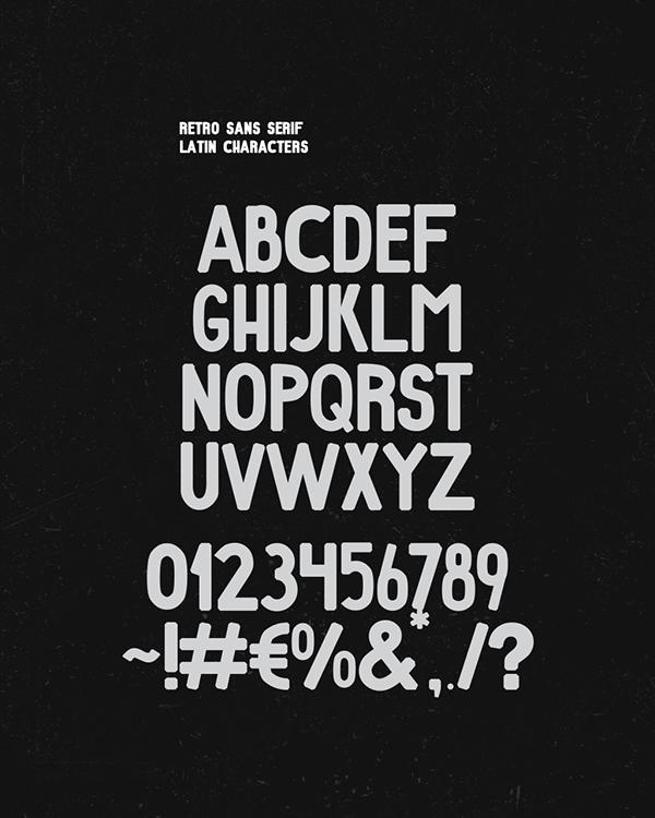 Retro Font Letters