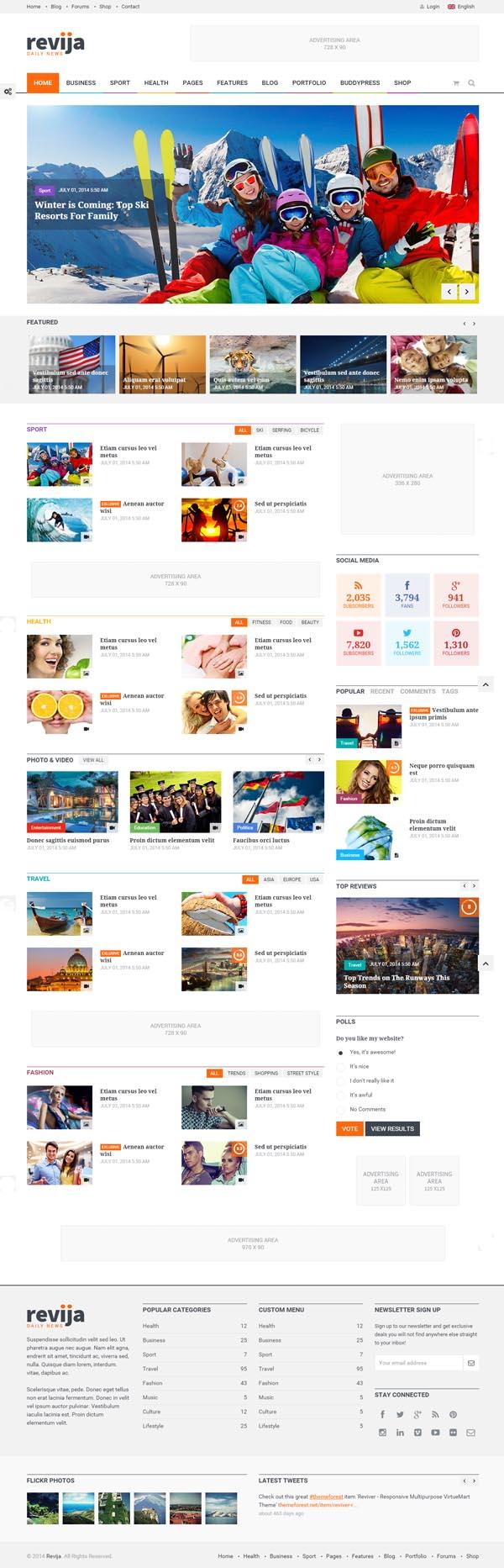 Revija - Premium Blog/Magazine HTML Template