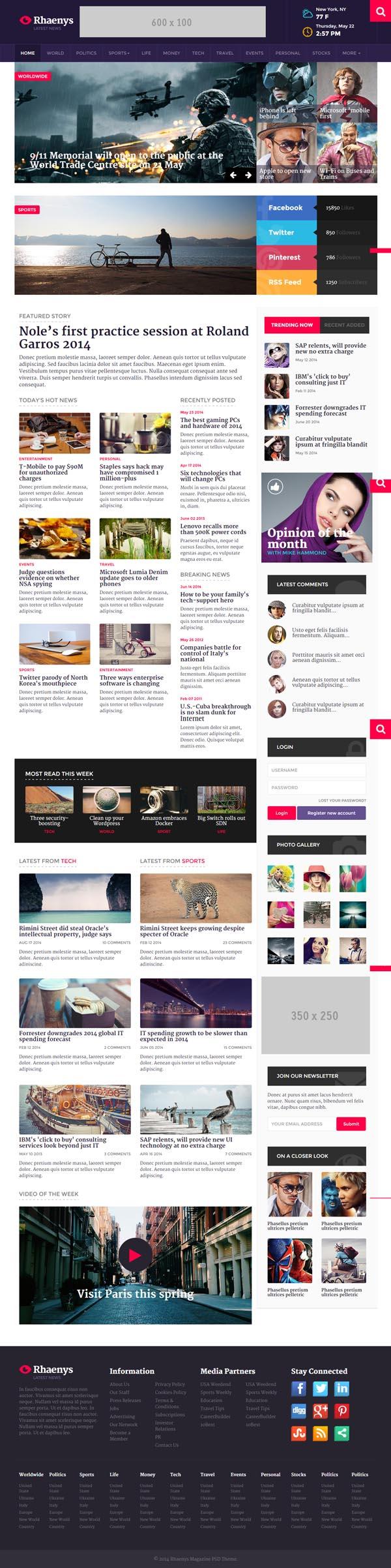 Rhaenys - Magazine / News Responsive Template