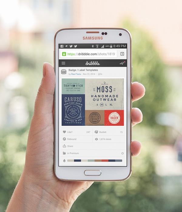 Samsung Galaxy S5 Free PSD MockUp