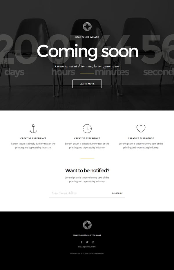 Sirius - Responsive Coming Soon Page