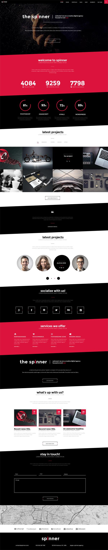 Spinner - Modern, Responsive HTML5 Template
