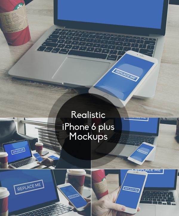 iPhone 6 Plus Mock-up Set