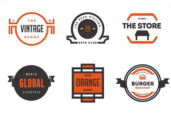 Trendy Vintage Logos & Badges