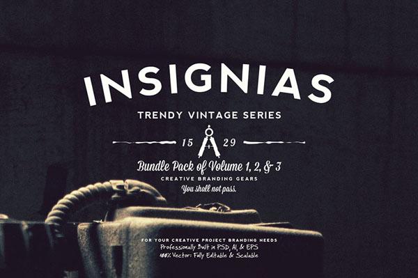 33 Trendy Vintage Insignias Bundle