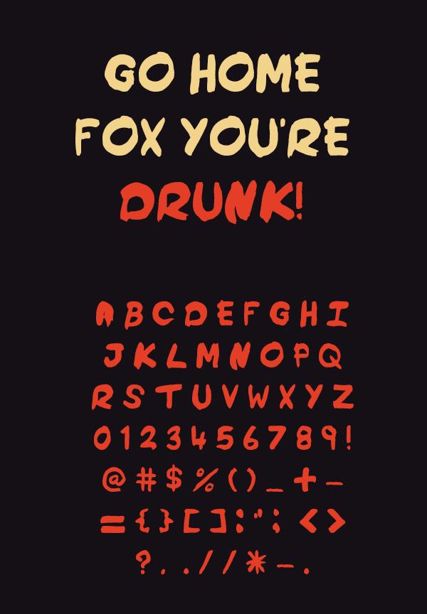 Drunkanigans Font Letters