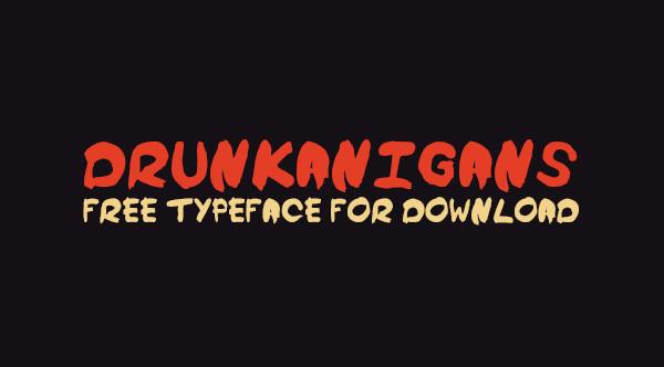 Drunkanigans Free Font