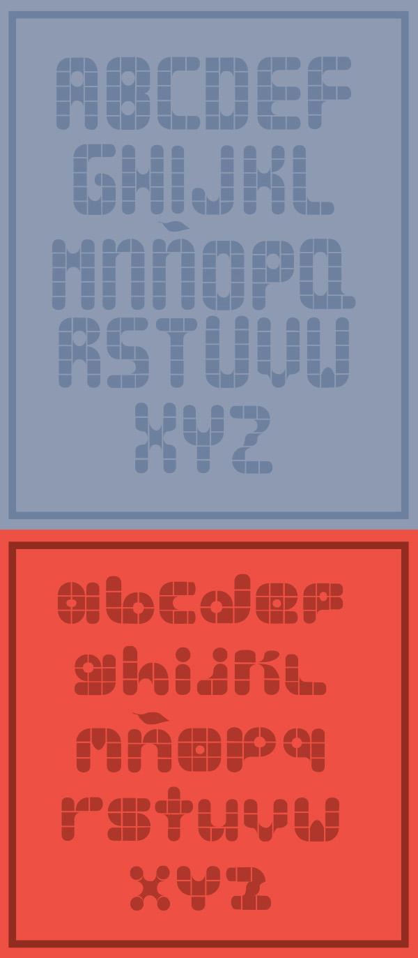 Lala Bauhaus Font Letters