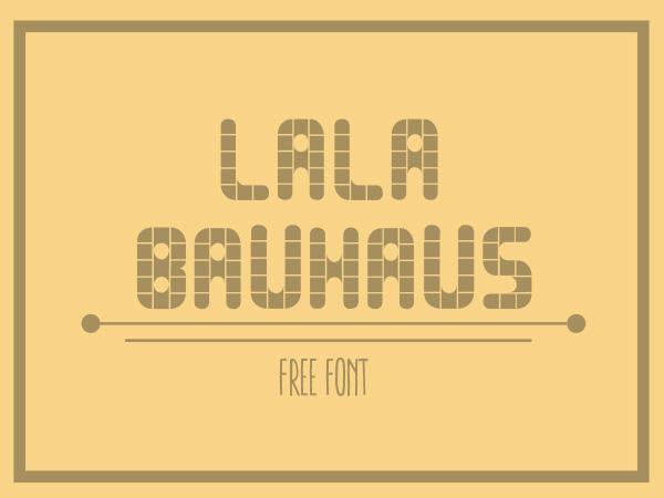 Lala Bauhaus Free Font