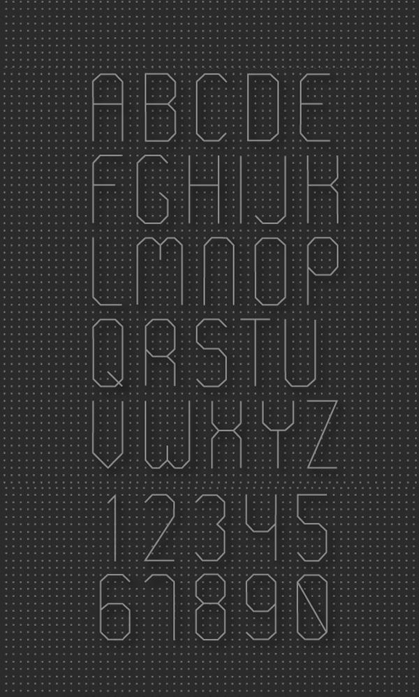 Curio Font Letters