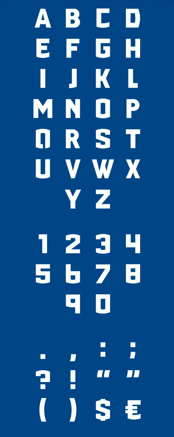 PORT118 Font Letters