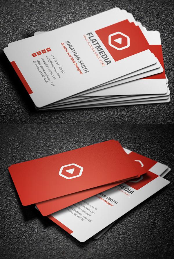 Corporate Flat Business Card Design