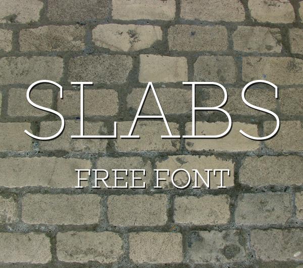 Slabs Thin Free Font