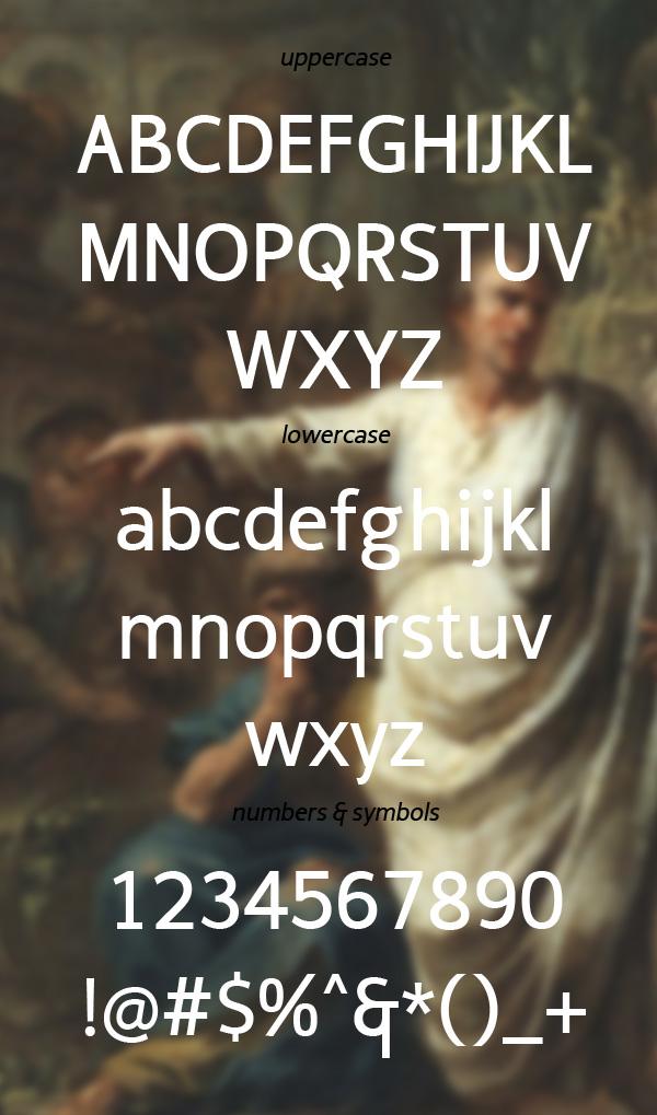 Cicero Sans Negrita Font Letters