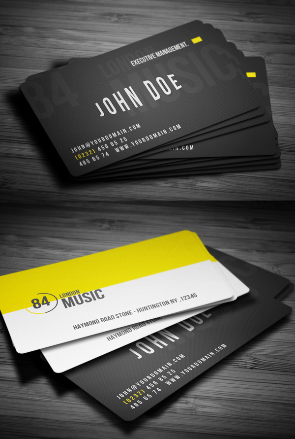 Retro Music Clup Business card