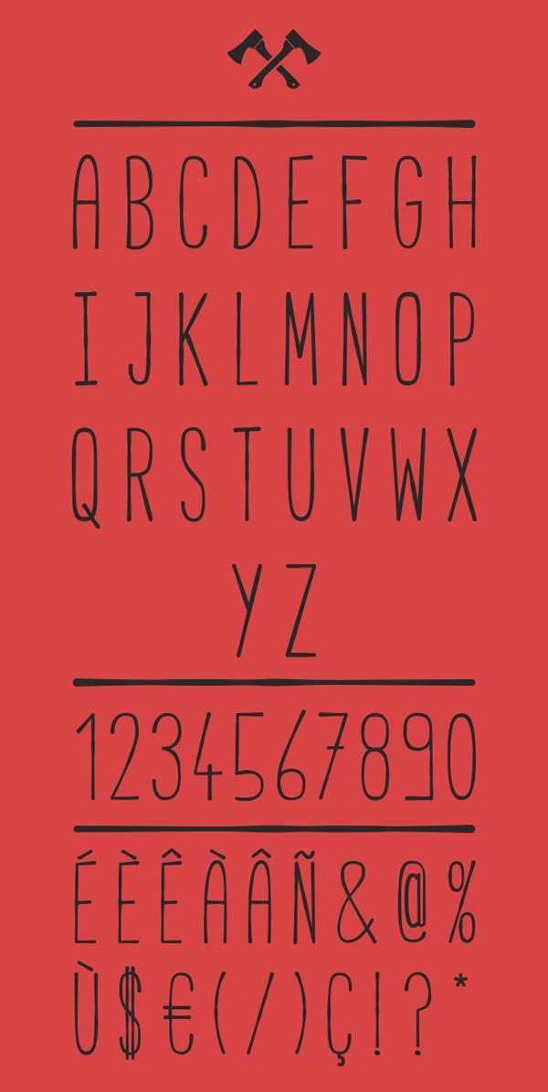 Cabana Font Letters