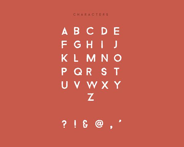 Bizon Font Letters