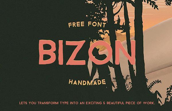 Bizon Free Font