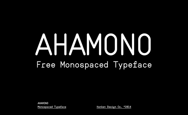 Ahamono Monospaced Free Font