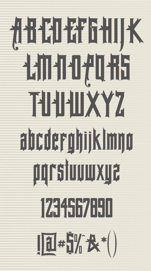 Allegheny Font Letters