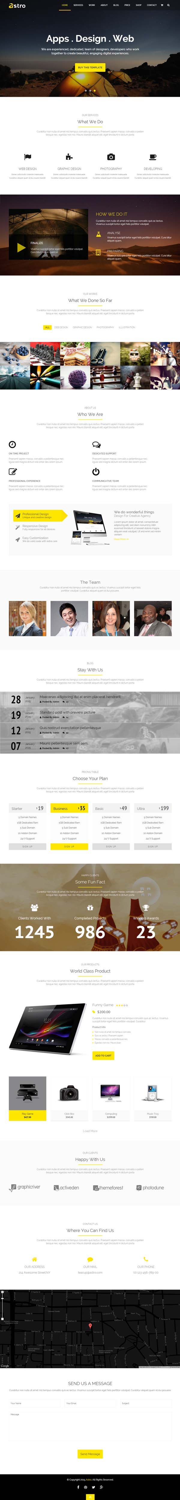 Astro Onepage Multipurpose Business HTML Template