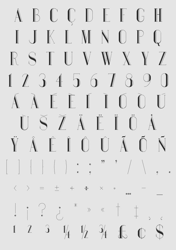 Bauru Font Letters