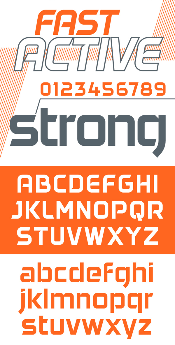 Daggersquare Font Letters