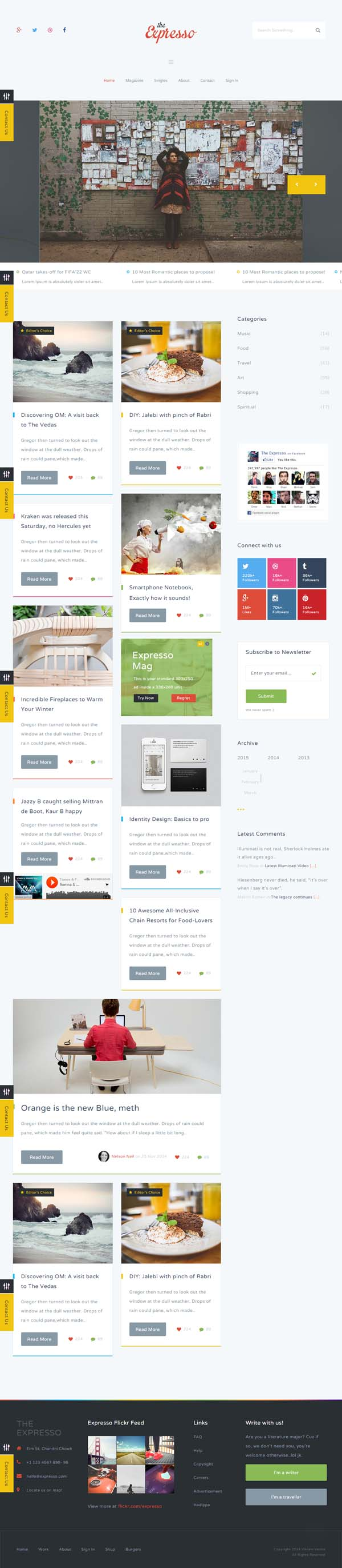 Expresso - A Modern Magazine and Blog Template