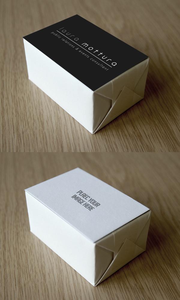 Free Business Card Block Mockup