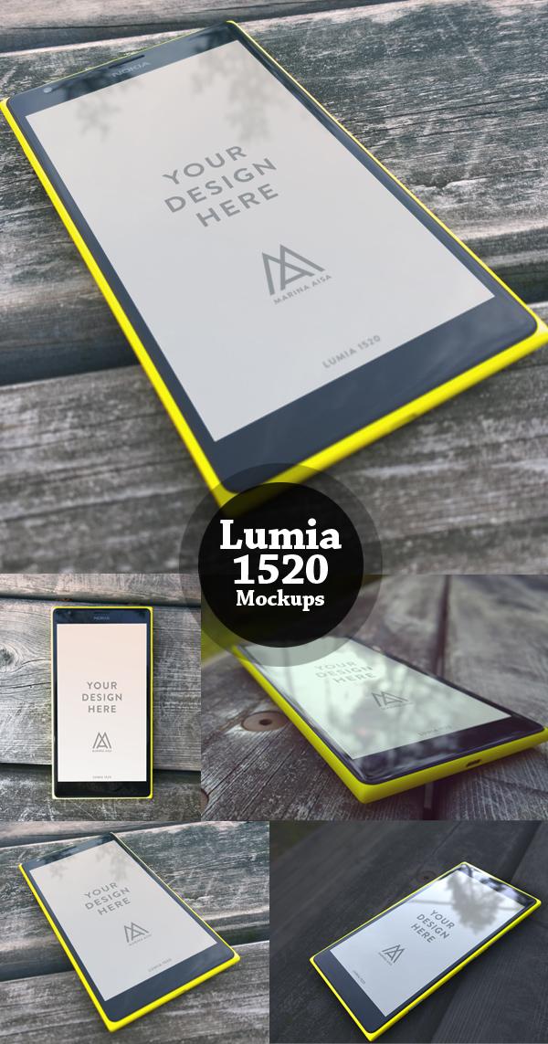 Free Lumia 1520 PSD Mockups